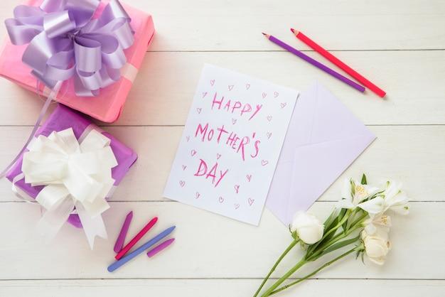 幸せな母の日のお祝い構成 無料写真
