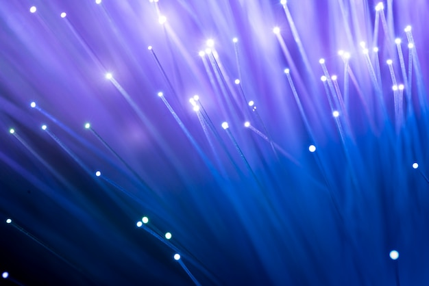 Fiber optics, abstract & blur background Premium Photo