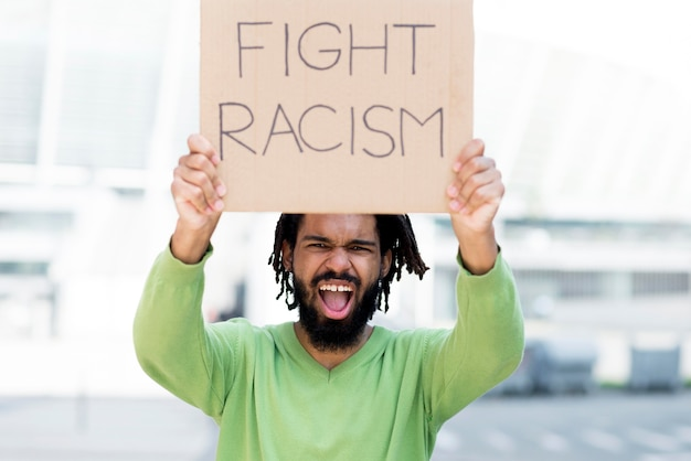 Fight racism quote black lives matter concept Free Photo