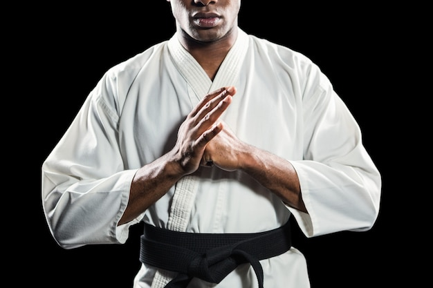 Fighter performing hand salute Premium Photo
