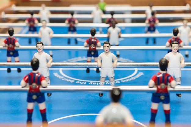 Figurines on table football Premium Photo
