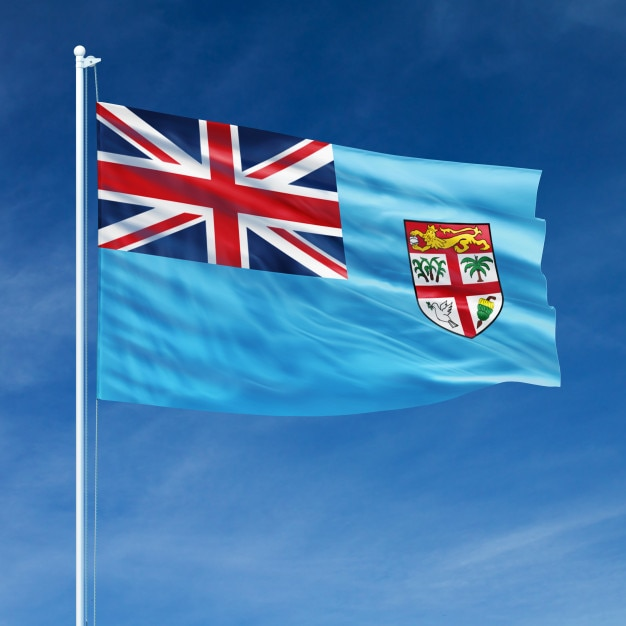 Fiji Flag Flying Photo Premium Download