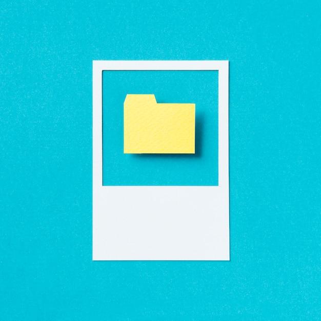 File document folder icon illustration Free Photo