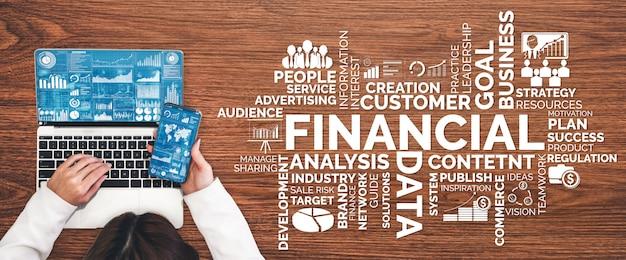 金融とお金のトランザクション技術コンセプト Premium写真