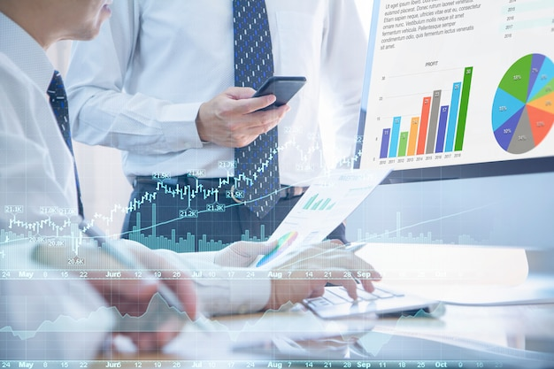 Finance and investment risk analysis Premium Photo
