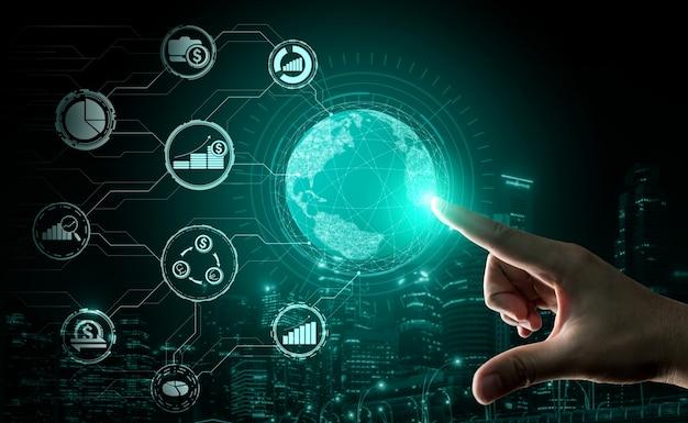 Finance and money transaction technology concept Premium Photo