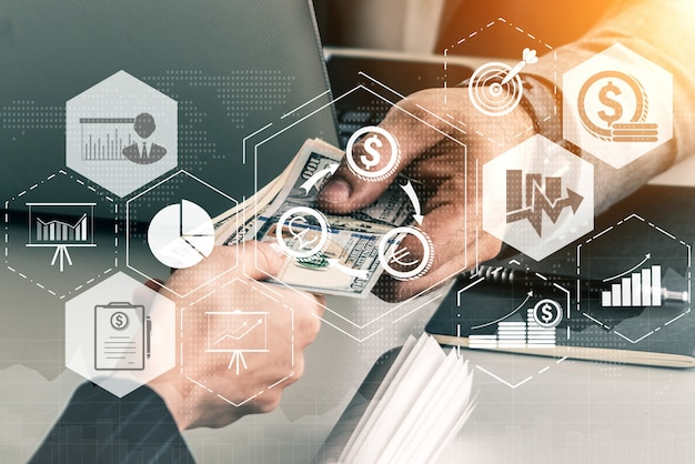 Finance and money transaction technology Premium Photo