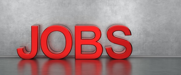 Find A Job Text Banner Premium Photo