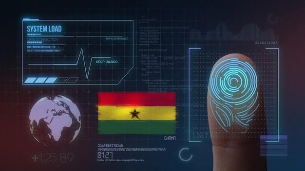 Finger print biometric scanning identification system. ghana nationality Premium Photo