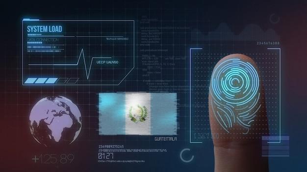 Finger print biometric scanning identification system. guatemala nationality Premium Photo