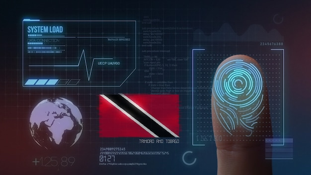 Finger print biometric scanning identification system. trinidad and tobago nationality Premium Photo