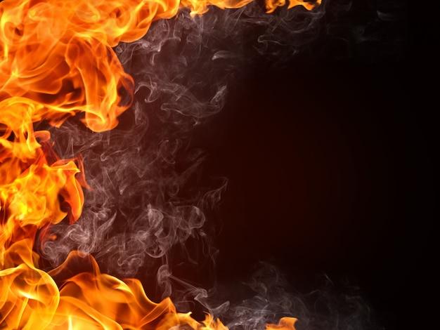 Fire background Premium Photo
