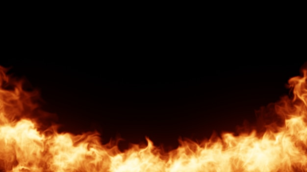 Fire background Premium Photo