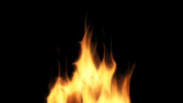 黒の背景に火のデザイン。閉じる Premium写真