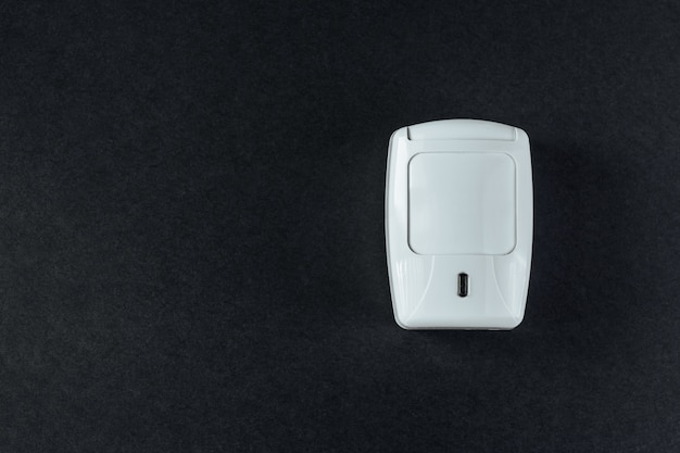 Fire safety system on a black background Premium Photo