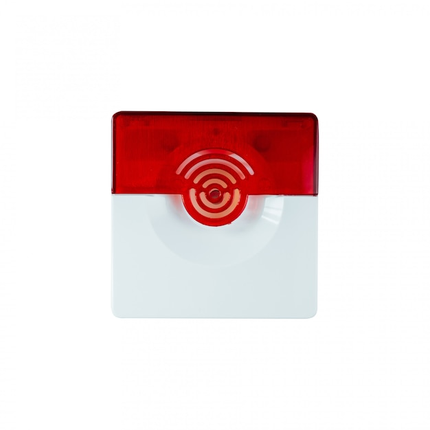 Fire safety system on a whate background Premium Photo