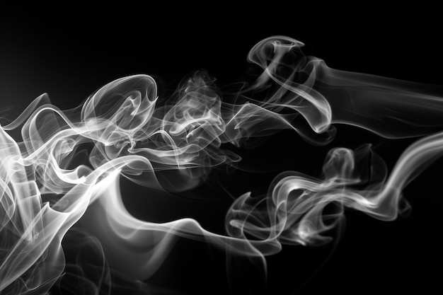 Premium Photo Fire Of White Smoke On Black Background Abstract Movement