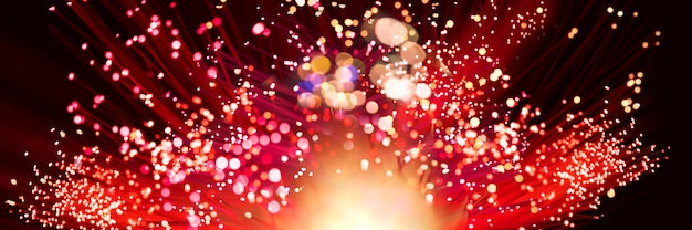 Фейерверк взрыва в красных тонах Premium Фотографии