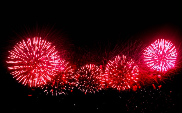 Fireworks light up the sky with dazzling display. Premium Photo