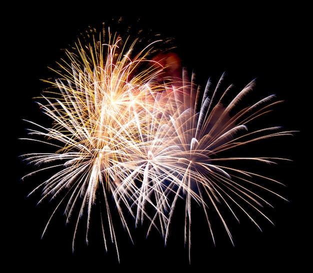 Fireworks on a night sky Premium Photo
