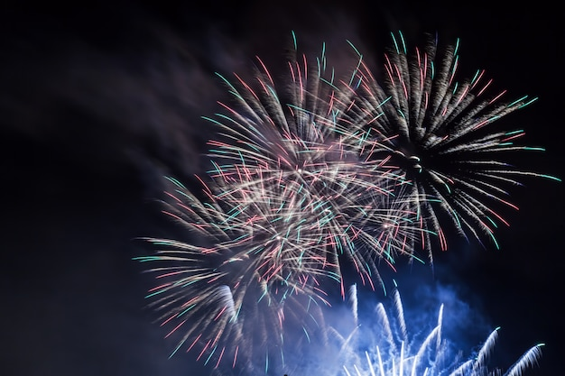 Fireworks at night Free Photo
