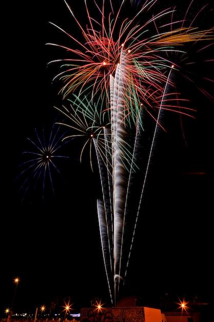 Fireworks in the night Premium Photo