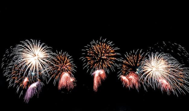 Fireworks on the sky. Premium Photo