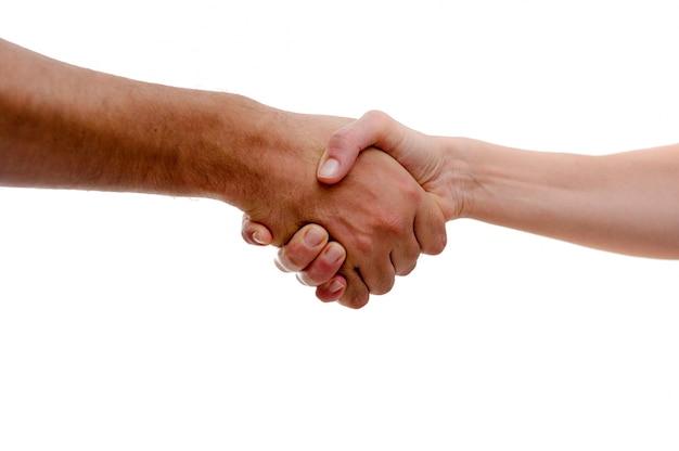Firm handshake in greeting Free Photo
