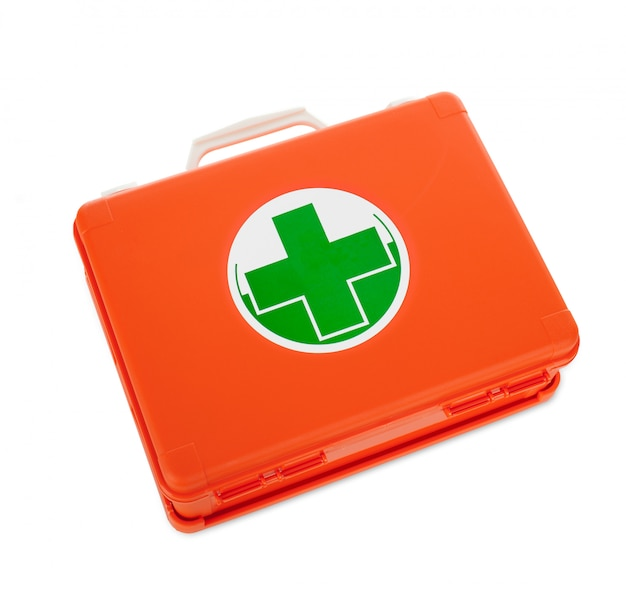 First aid kit isolated Premium Photo