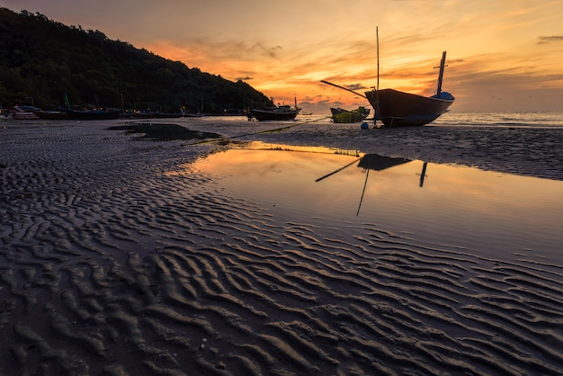 Fisherman wooden boat . Premium Photo
