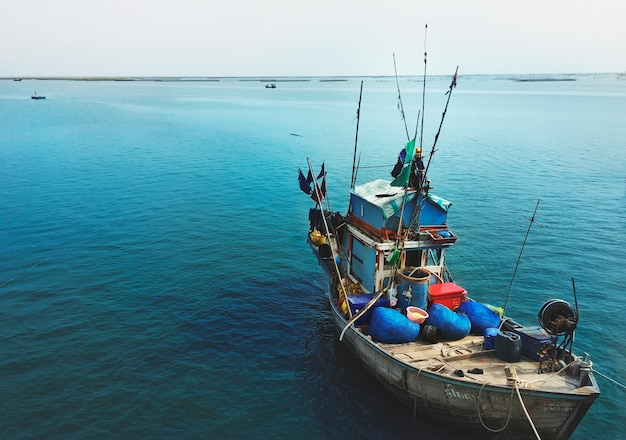 Fishery boat seascape nautical vessel nature concept Free Photo