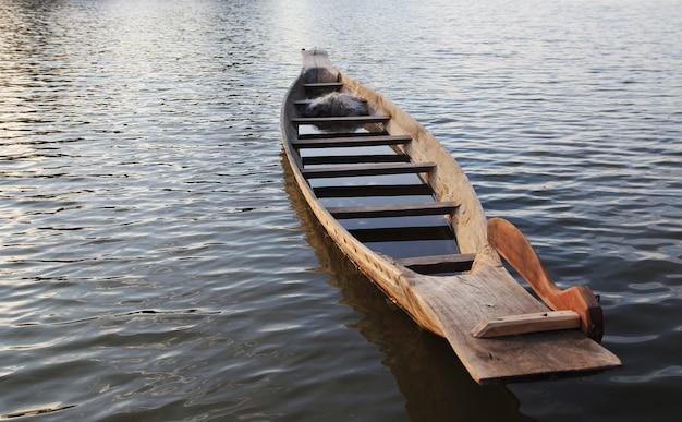 Fishing boat on river. Premium Photo