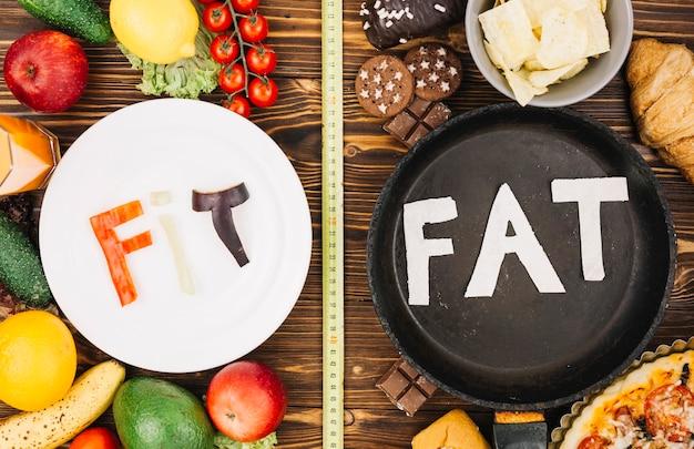 Fit vs fat Free Photo