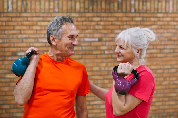 Fitness concept with elderly couple Free Photo