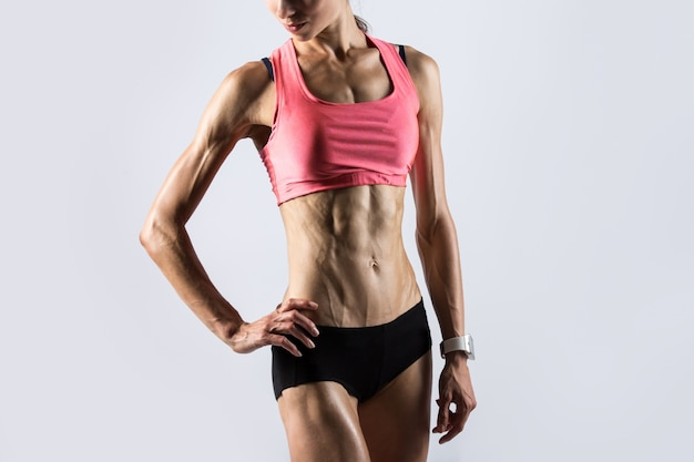 Fitness girl with ideal body Free Photo