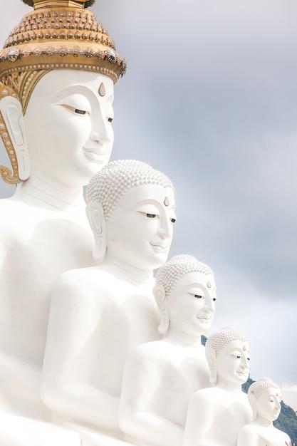 Five buddha's Premium Photo