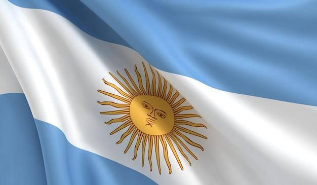 Flag of argentina Premium Photo
