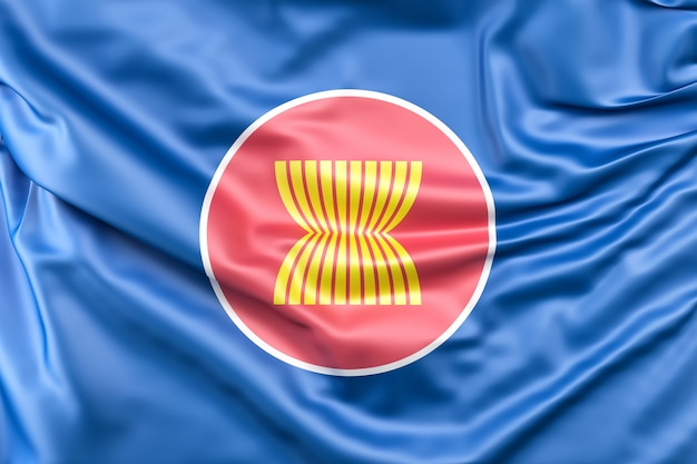 Flag of association of southeast asian nations (asean) Free Photo