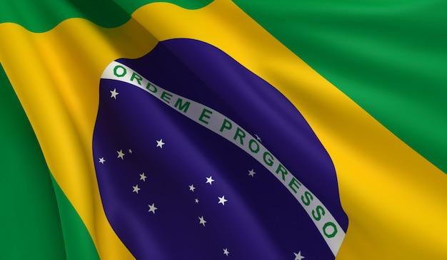 Flag of brazil Premium Photo