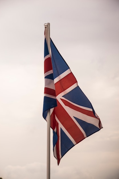 Flag of britain under blue sky Free Photo