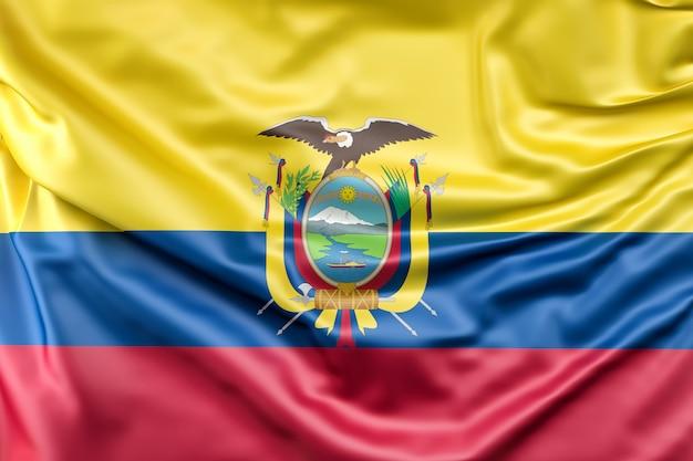 Flag of the ecuador Free Photo