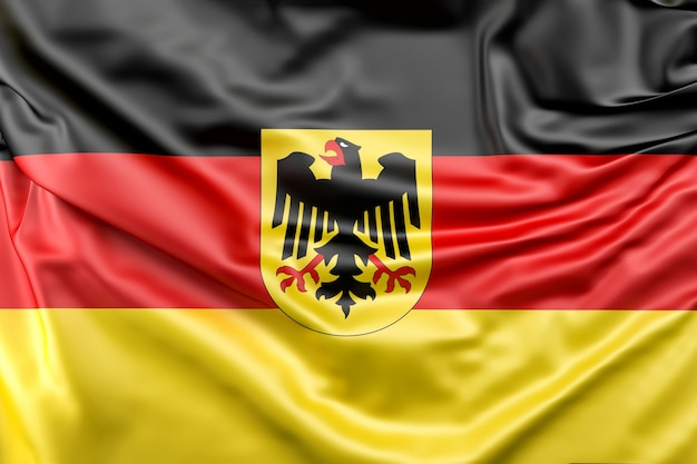 Flag of germany with coat of arms Free Photo