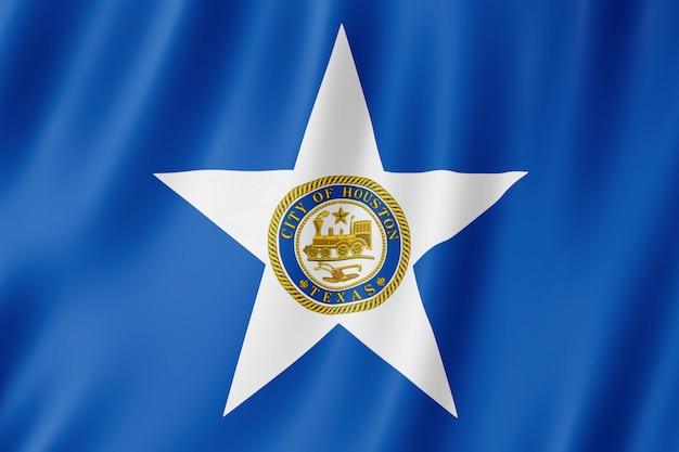 Flag of houston city, texas (us) Premium Photo