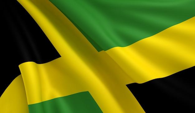 Flag of jamaica Premium Photo
