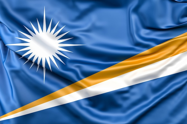 Flag of marshall islands Free Photo