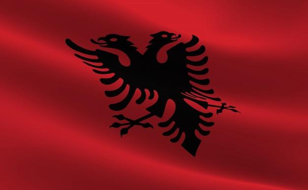 Flag Of Albania Illustration Of The Albanian Flag Waving Photo - Albanian flag