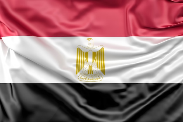 Flag of Egypt Free Photo