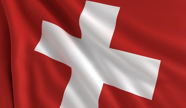スイスの旗 Premium写真