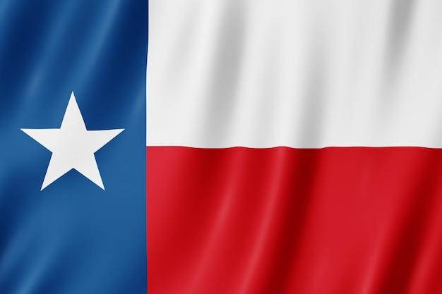 テキサス州、アメリカ合衆国の国旗。テキサスの旗を振るの3dイラストレーション。 Premium写真
