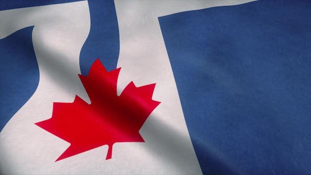 Флаг торонто развевается на ветру. Premium Фотографии